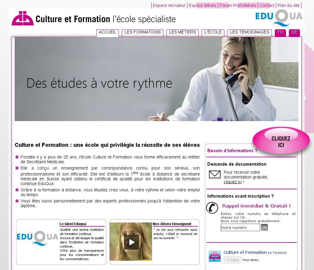 Avec Culture et Formation Suisse : devenez secrétaire médicale