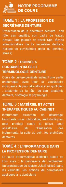 Programme de formation secrétaire dentaire